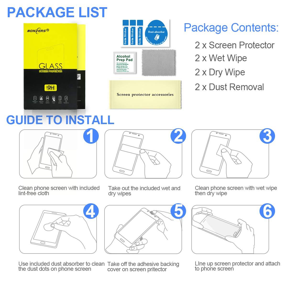 NONZERS Protector de Pantalla para iPhone 7//8 Cristal Vidrio Templado, Cristal Templado Compatible con 3D Touch Blanco 2.5D Round Edge 2 Unidades 9H Dureza