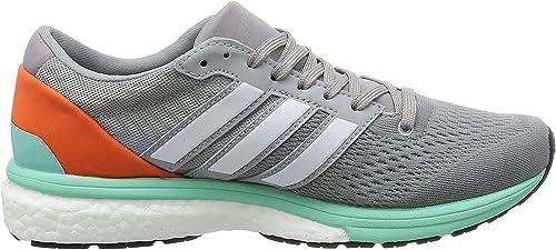 adidas Adizero Boston 6, Zapatillas de Running para Mujer, Gris (Mid Grey/ftwr White/easy Orange), 36 2/3 EU: Amazon.es: Zapatos y complementos
