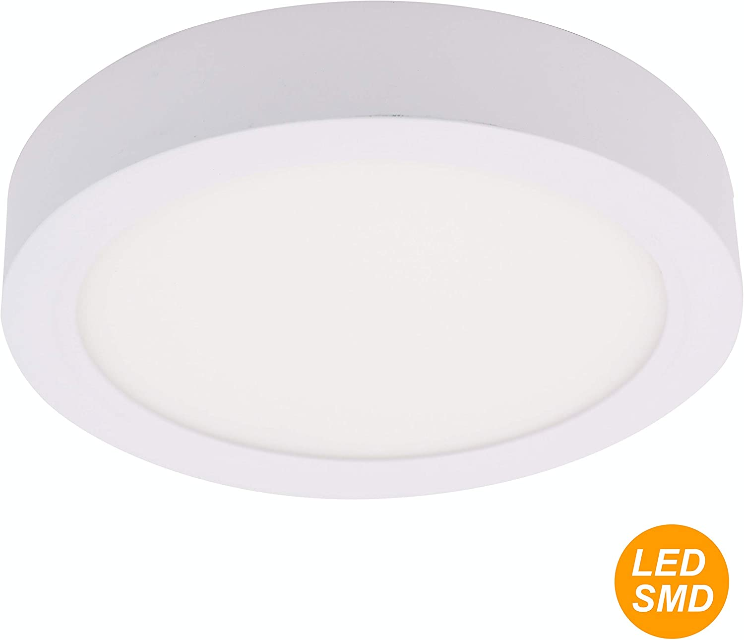 SECEIEL ® Plafón LED 18W 1450Lm 4200K Downlight LED redondo (disponible en varios colores), aluminio, 18W,luz neutra [Clase de eficiencia energética A+]