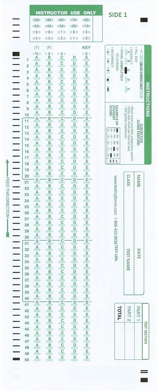 Amazon.com: TEST-100E 882 E Compatible Testing Forms (500 Sheet ...