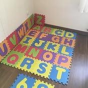 Color aleatorio W-top 36 PCS Alfabeto N/úmeros Suave Alfombrilla de juego para ni/ños Espuma EVA Alfabeto de alfombra de goma Tapetes de letras Actividad Puzzle Alfombras de juego Protecci/ón de piso