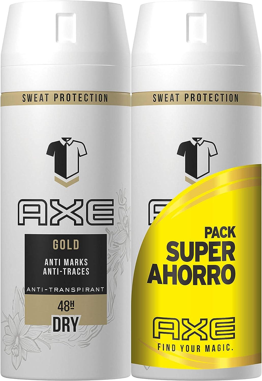 Axe Gold, Desodorante Antitranspirante - 2 x 150 ml: Amazon.es ...