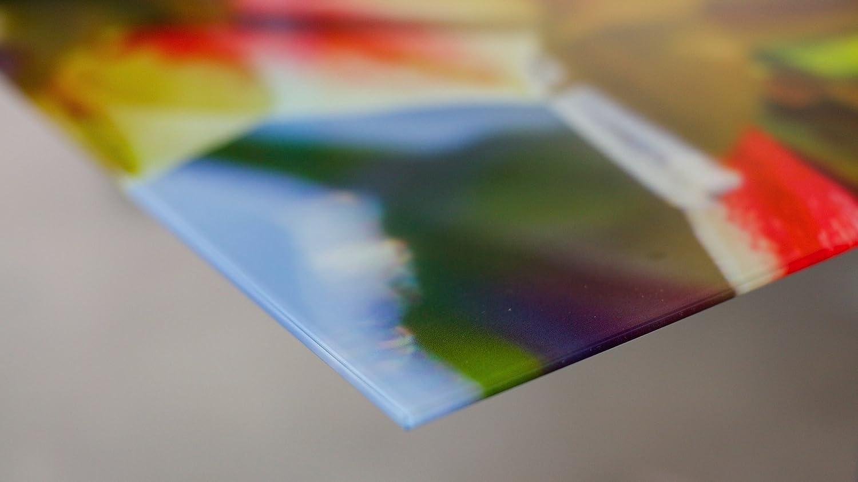 Diseno /& Fatto a mano Quadro di vetro Impreso decorativo fatto a mano foglie verdi 125/x 50/cm ag312502186/vetro Deco