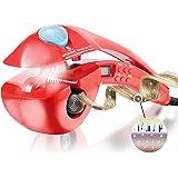ACEVIVI Anione vapore ferro arricciacapelli bigodino Dreher con LCD EU Plug rosso, pro-C