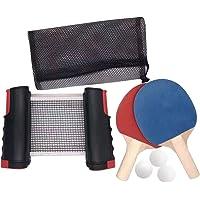 Juego de ping pong instantáneo, portátil, red extensible
