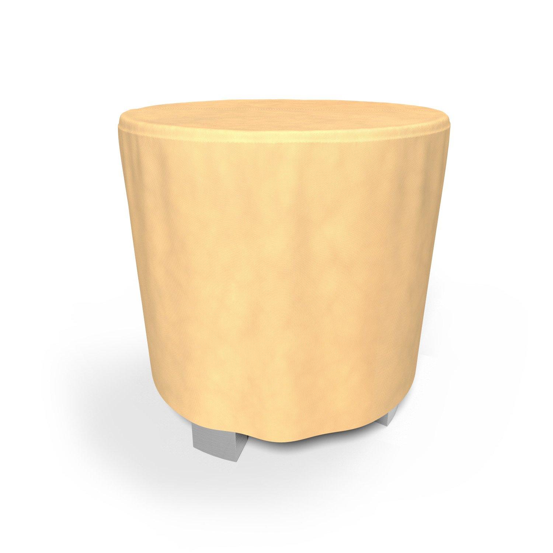Budge All-Seasons Patio Bar Table Cover, Tan (50'' Diameter x 42'' Drop)