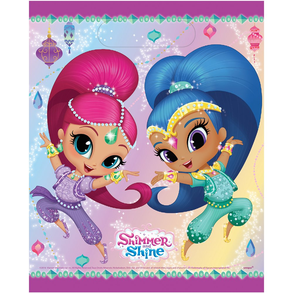 Shimmer and Shine Party Loot Bags [8 per Pack]: Amazon.es ...