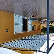 SONGMICS 3, 5 x 5 m Vela Solar, Resistente al Agua Más Que 1000 mm ...