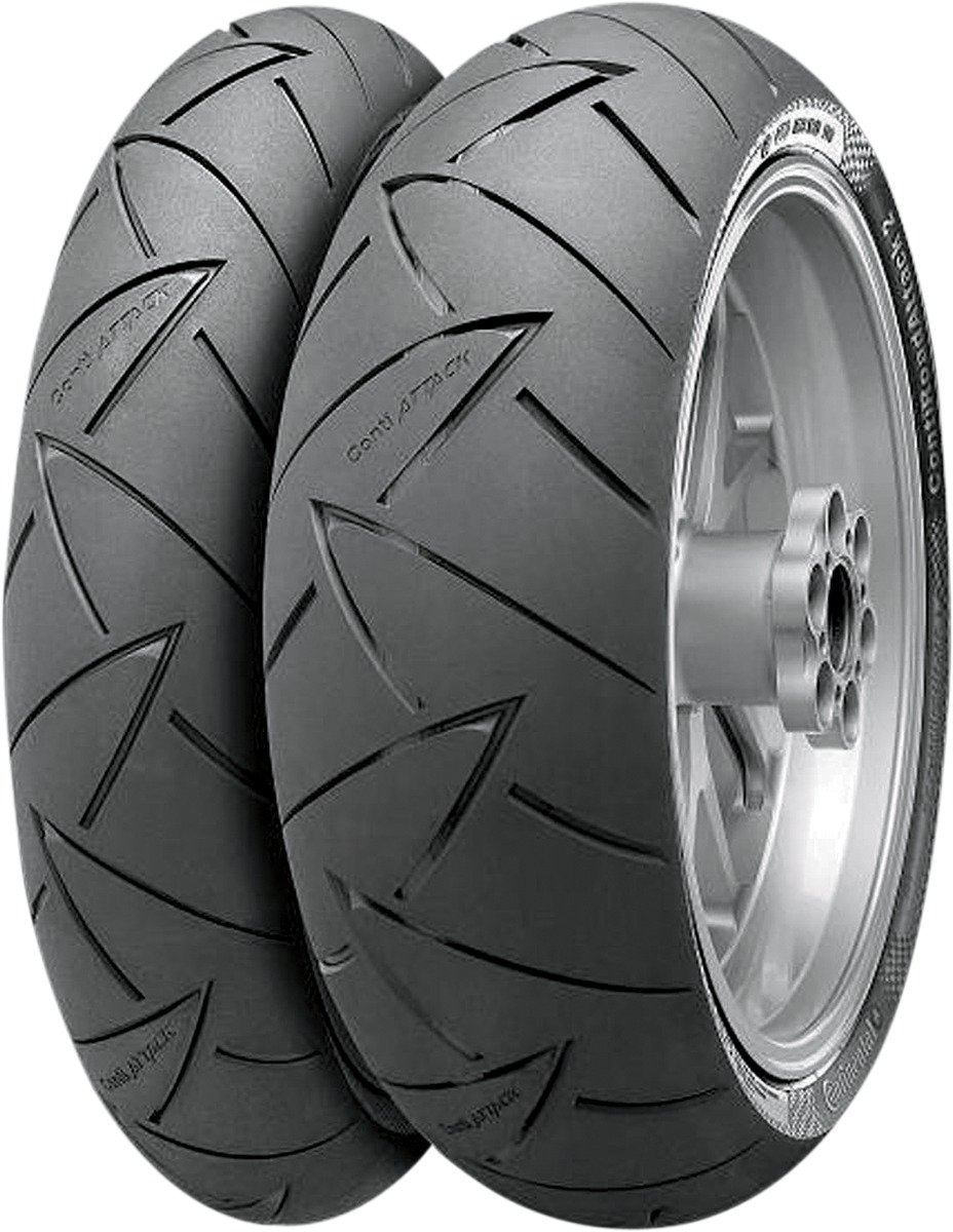 Continental ContiRoadAttack 2 Sport//Touring Motorcycle Tire Front 110//80-19