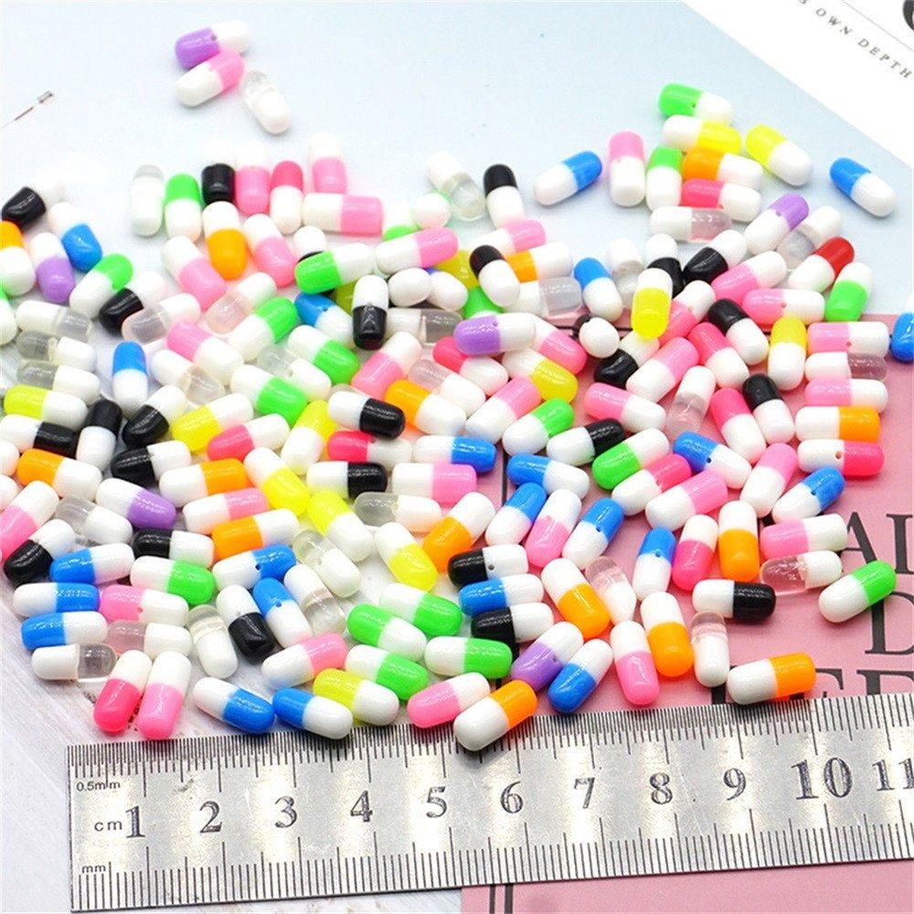 50 Pezzi in polistirolo colorato Pillole Decorative Fai da Te Artigianato per Crunchy Slime hahuha Toy Suggerimenti di decompressione Giocattoli
