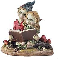 Pixie Couple lecture, Sculpture Décor de jardin