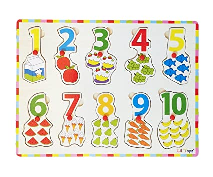 Lil Toyz Peg Puzzle Counting Number 1-10