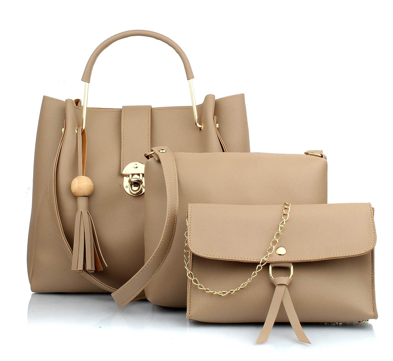 Women's PU Leather Handbag Combo