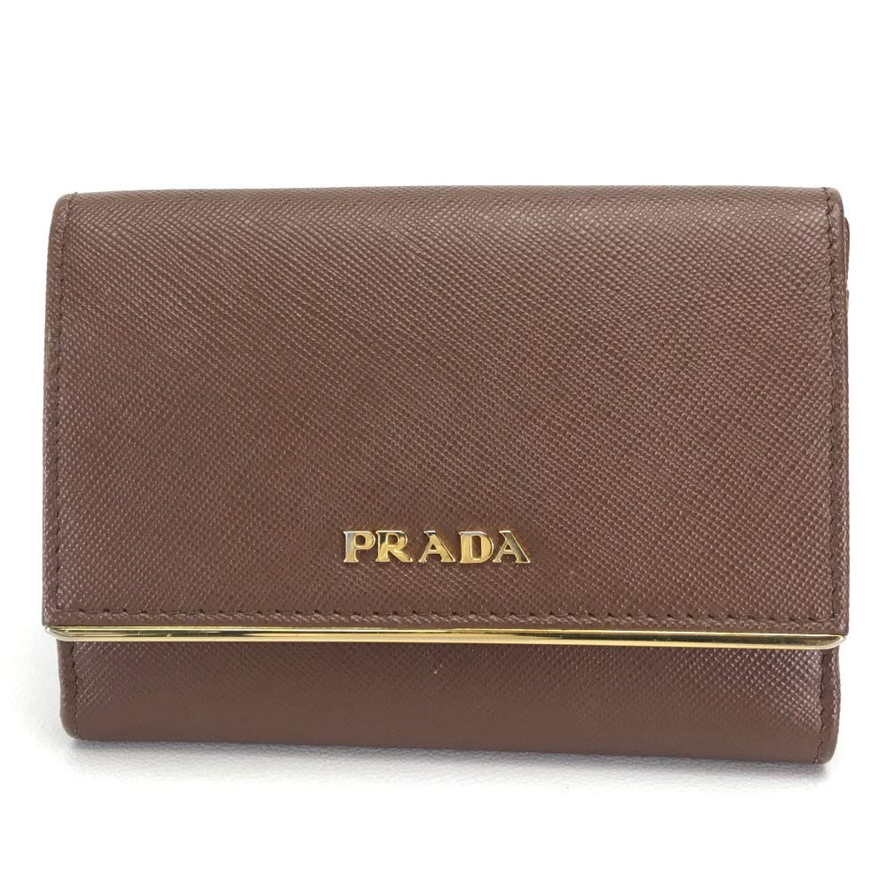 (プラダ)PRADA 1M0523 サフィアーノメタル 2つ折り財布 二つ折り財布(小銭入れあり) レザー/レディース 中古   B07PMHNKHW