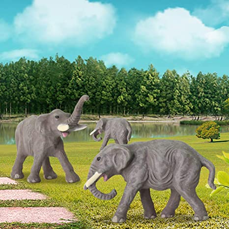 3 Stk mini 30mm Elefanten Elefant Baby 20mm 2cm Miniatur Spur N