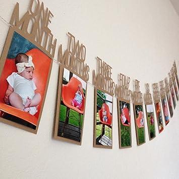 culater 1pc baby kids 1st birthday gift 1 12 month photo banner diy