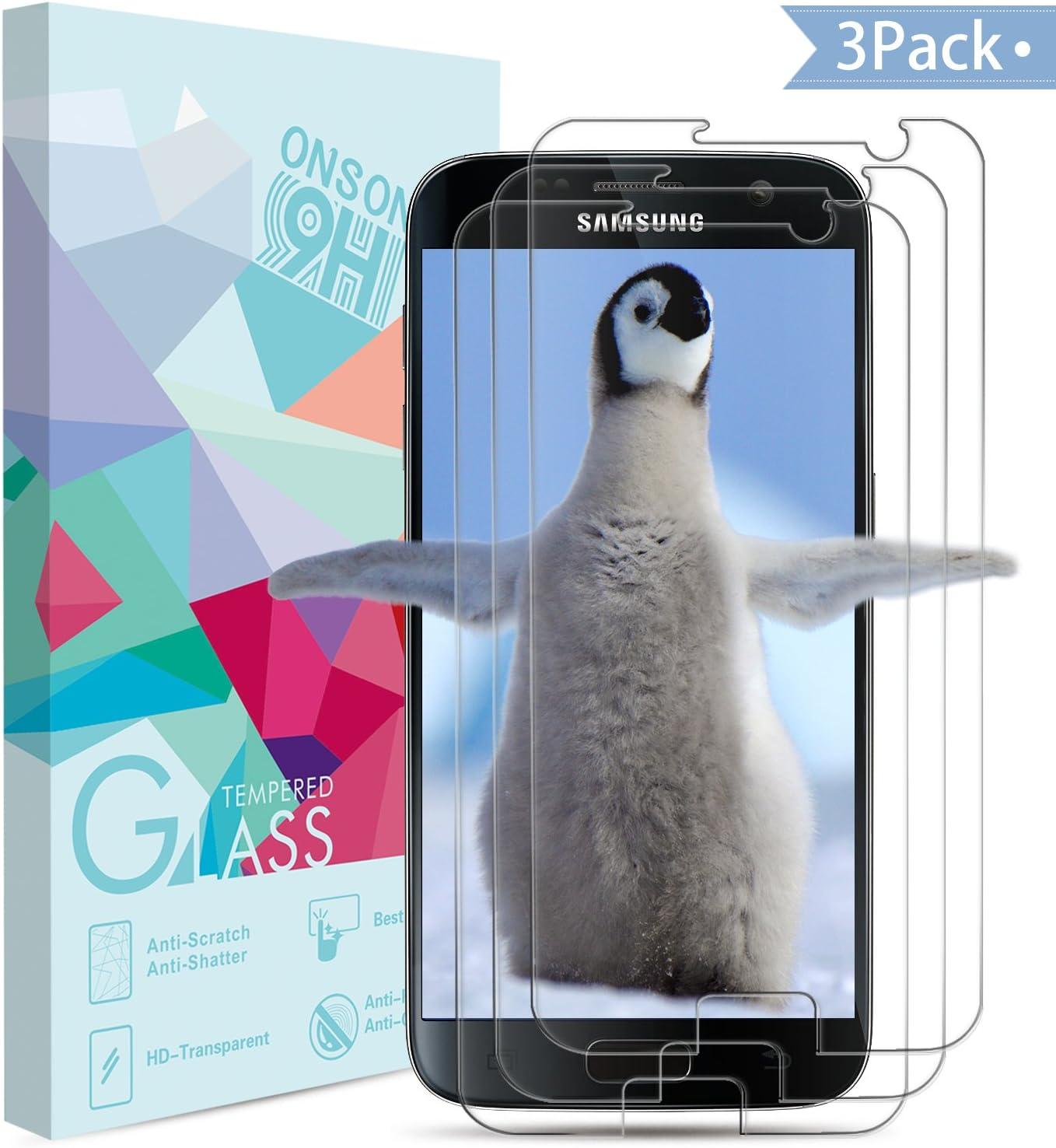 3-Unidades]Protector de pantalla Galaxy S7,Vanzon Cristal Vidrio Templado Premium Para Samsung Galaxy S7 (Galaxy S7): Amazon.es: Electrónica