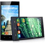"THL T6C Newest 5.0"" Android 5.1 Unlocked 3G Smartphone -- Ultrathin 1GB/8GB MT6580 Quad-Core 1.3GHz GSM/WCDMA Dual SIM Card Dual Standby Mobile Phone GPS OTA WIFI SIM-Free Phablet (Black)"
