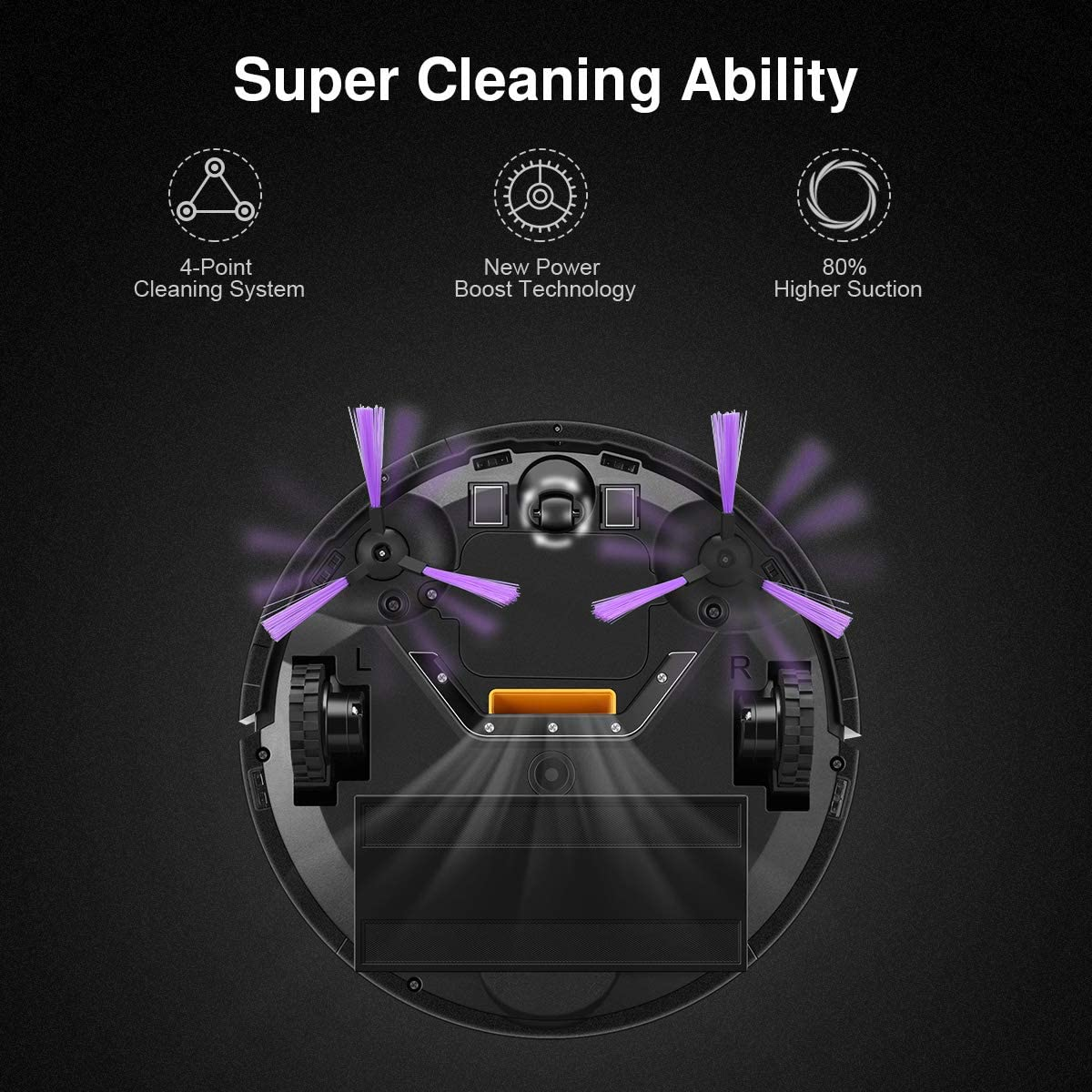Diggro KK320 Robot Aspirador de Limpieza Patentado Aspirador de ...