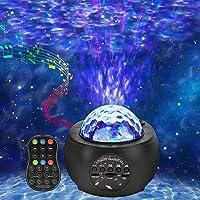 ROVLAK Sterrenhemel Projector Lamp LED Licht Projector met Bluetooth Sterrenhemel Lamp met Wolken Sterren Maan…
