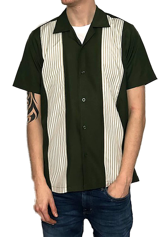 Rockabilly Fashions - Camisa Informal para Hombre, Estilo Retro Vintage, de los años 60: Amazon.es: Ropa y accesorios