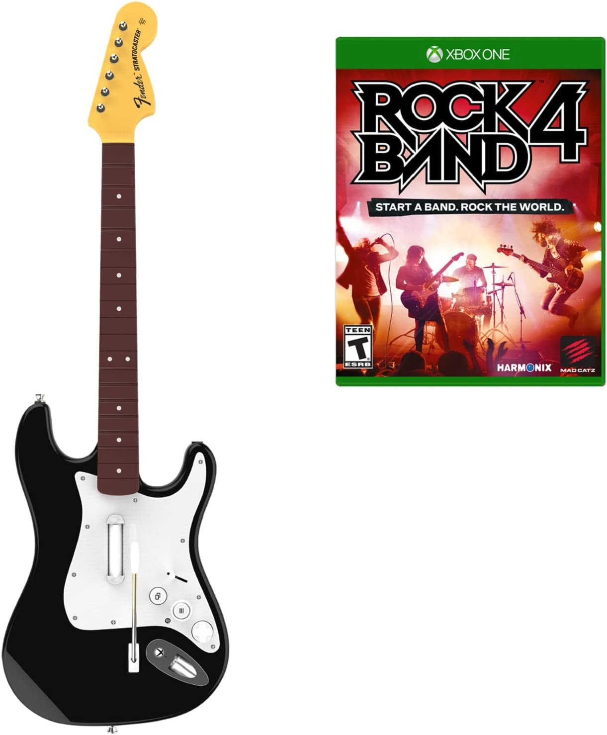 Amazon.com: Rock Band 4 Wireless Guitar Bundle- Xbox One: Mad Catz: Video  Games