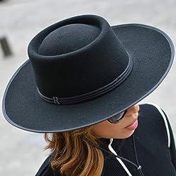 RACEU ATELIER Sombrero Billy Negro Raceu Atelier - 100% Fieltro de Lana -  Resistente al 6aae5afebda