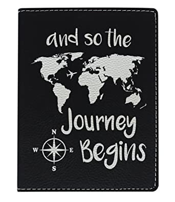 Amazon cute passport holder for women the journey begins world cute passport holder for women the journey begins world map cute passport wallet gifts for travelers gumiabroncs Images