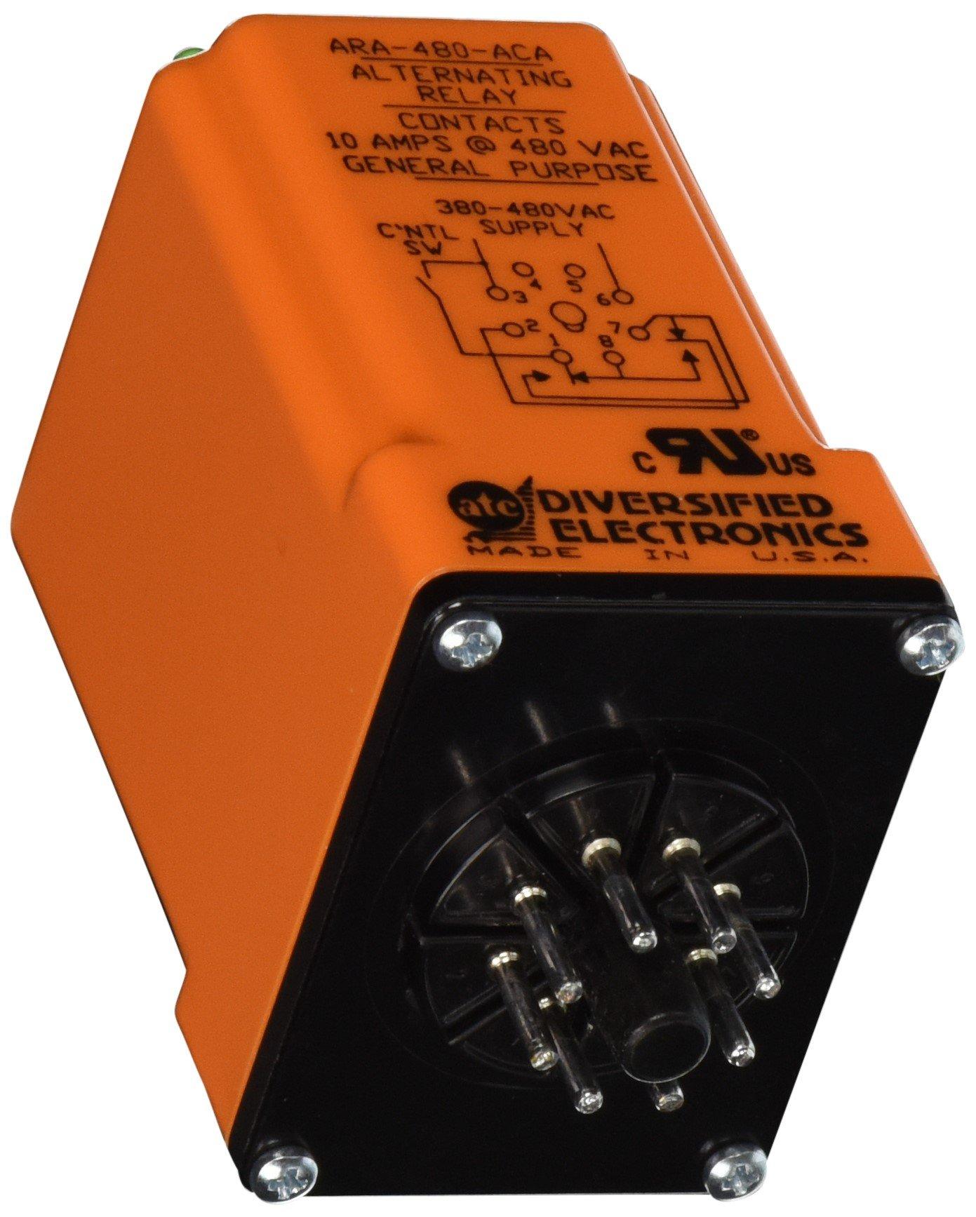 ATC ARA-480-ACA Plug-In Duplexor Alternating Relay, 480 VAC, DPDT x Wired