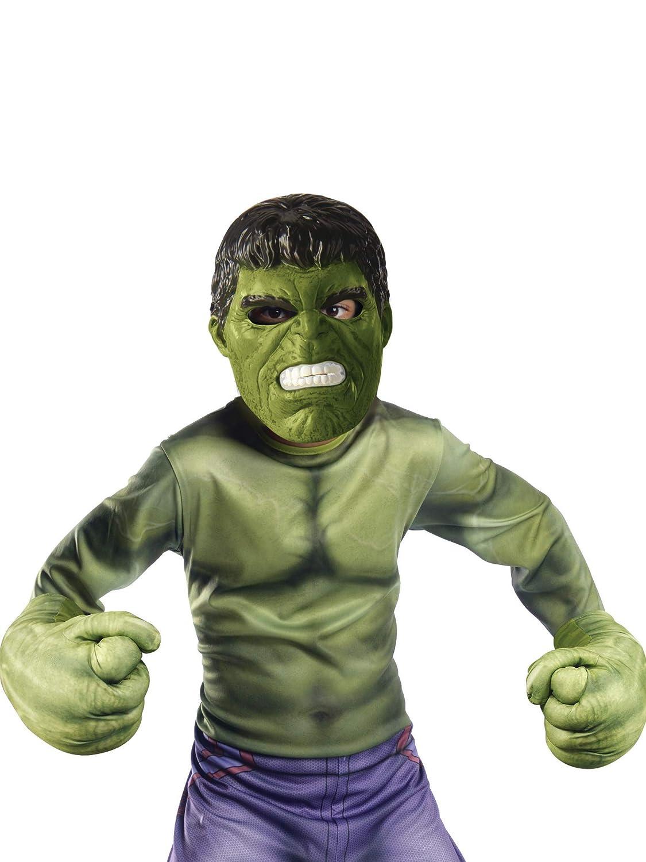 155088 Marvel-Kit daccessoires Officiels Masque Rubies-d/éguisement officiel Gants G/éant Hulk-Taille M