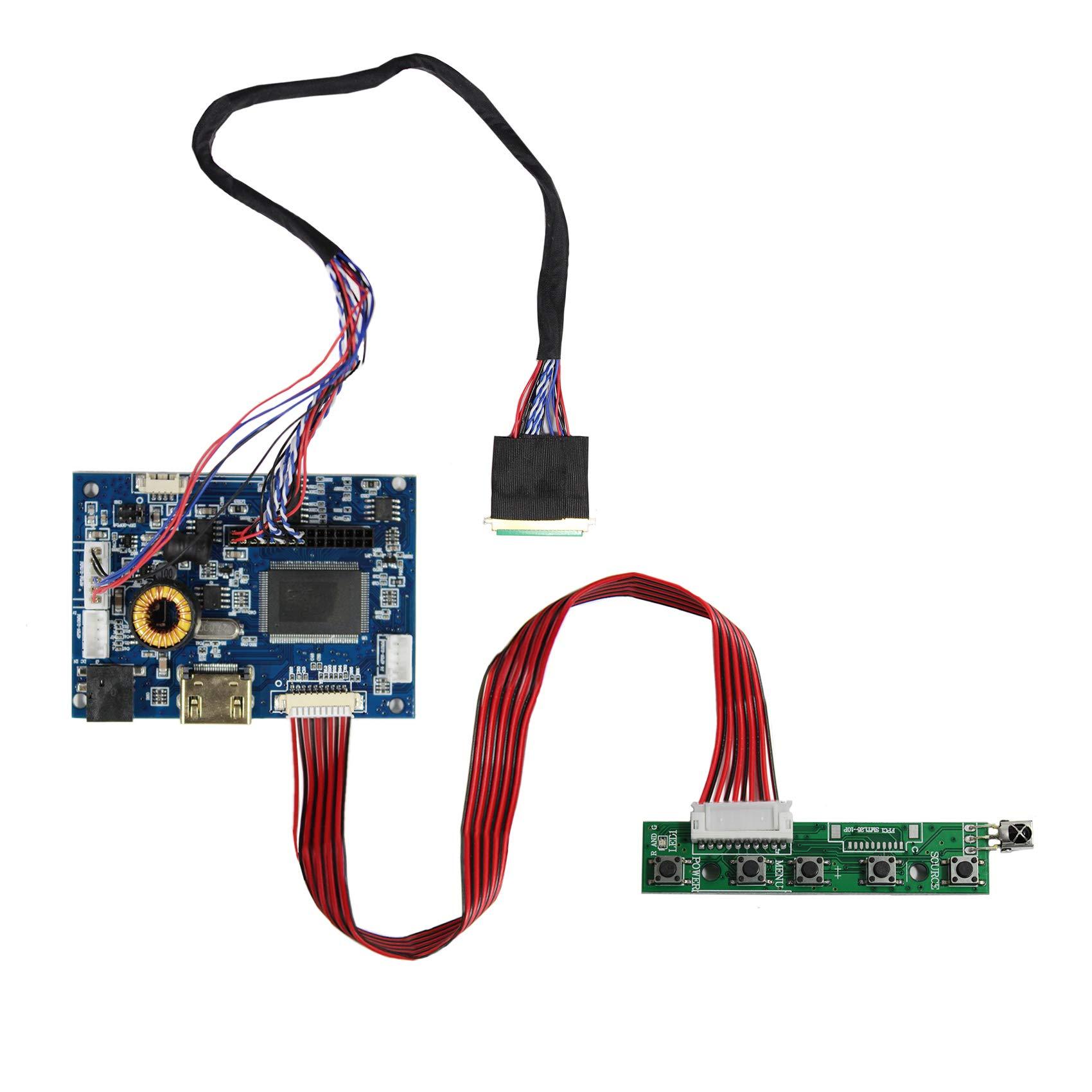 """HDM I Audio Input LCD Controller Board For 14"""" HT140WXB B140XW03 15.6"""" LP156WH2-TL LTN156AT02 1366x768 40Pins LCD Screen"""