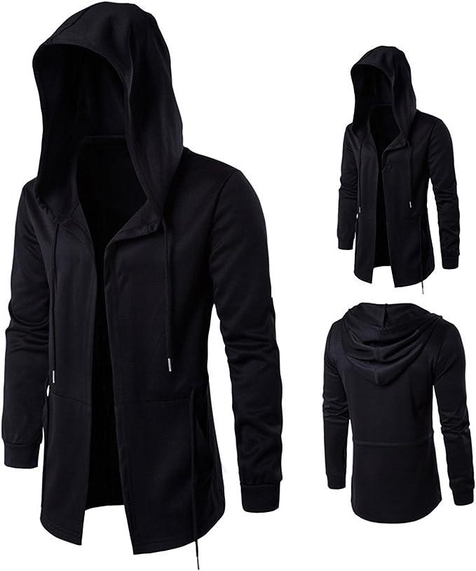 iTLOTL Mens Winter Zipper Outwear Tops Solid Stand Collar Sweater Cardigan Coats