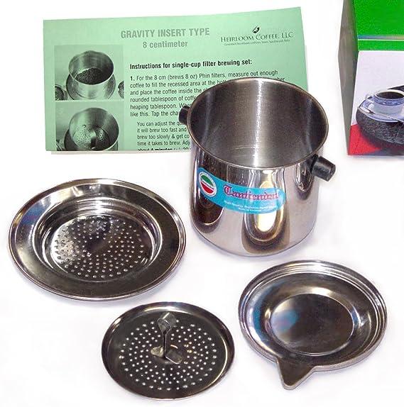 Taille 7 vietnamiens Tasse à café filtre en acier inoxydable phin Cà phê-Push Filtre