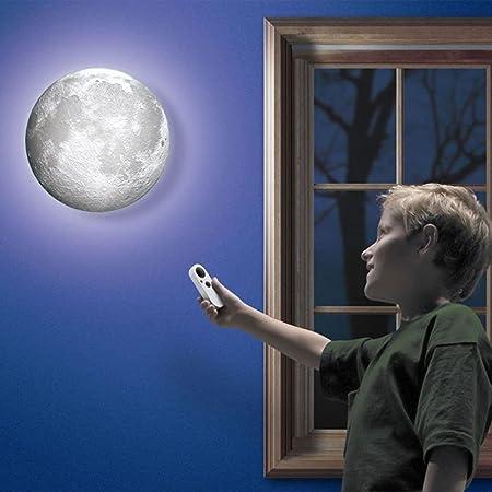 iacon enfants Int/érieur Lampe murale LED Lune Lampe murale avec t/él/écommande Relaxant heilungs-Super Veilleuse Lune pour Art Room Chambre denfant chambre /à coucher /éclairage mural