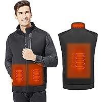 MVPower Chaleco Térmico Electrico para Hombres y Mujeres, Chaleco Calefactable de Carga USB para Cuello, Espalda y…