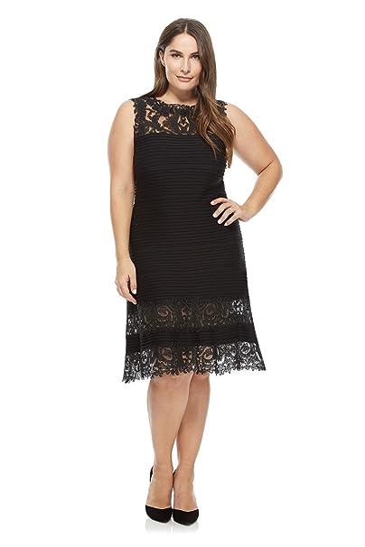 Amazon.com: newdeve Mujeres Encaje Negro Formal vestidos ...