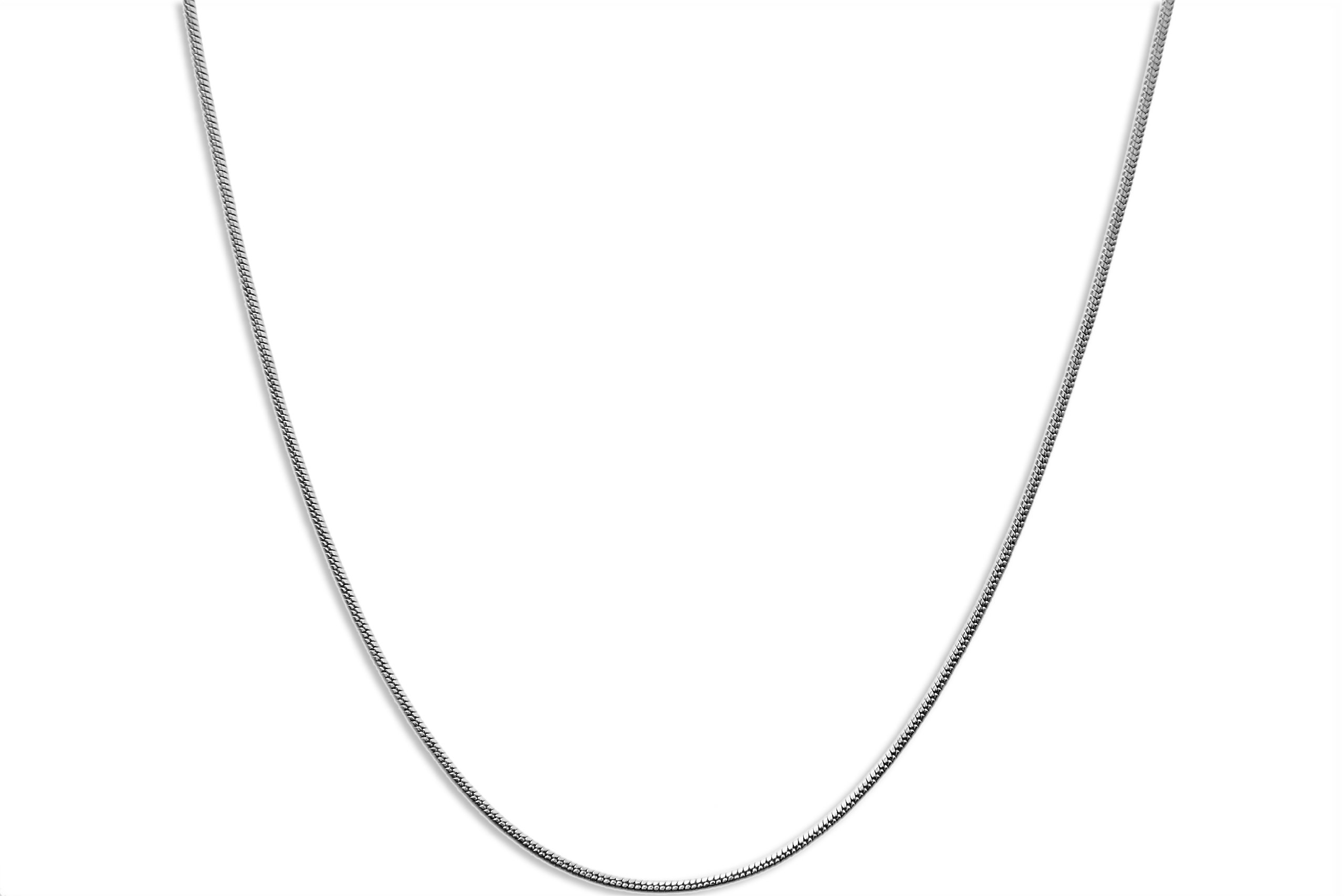 CloseoutWarehouse Stainless Steel Snake Chain Necklace 1.2MM Size 24''