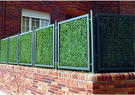 Faura 1x3m - Seto Artificial Estandar 90 Varillas - Hoja Ancha: Amazon.es: Jardín