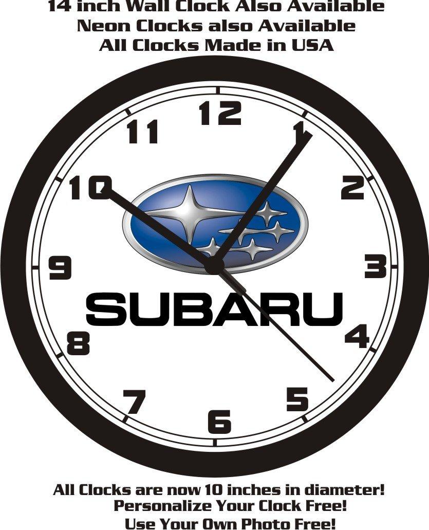 Amazon Subaru Motors Logo Wall Clock Free Usa Ship Home Kitchen