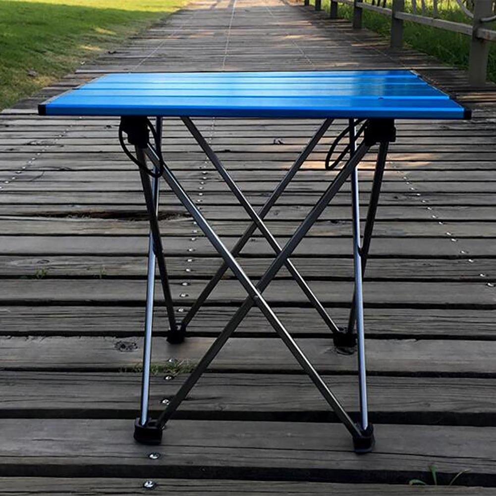 GUO Extérieur Super léger camping en aluminium table pliante pratique
