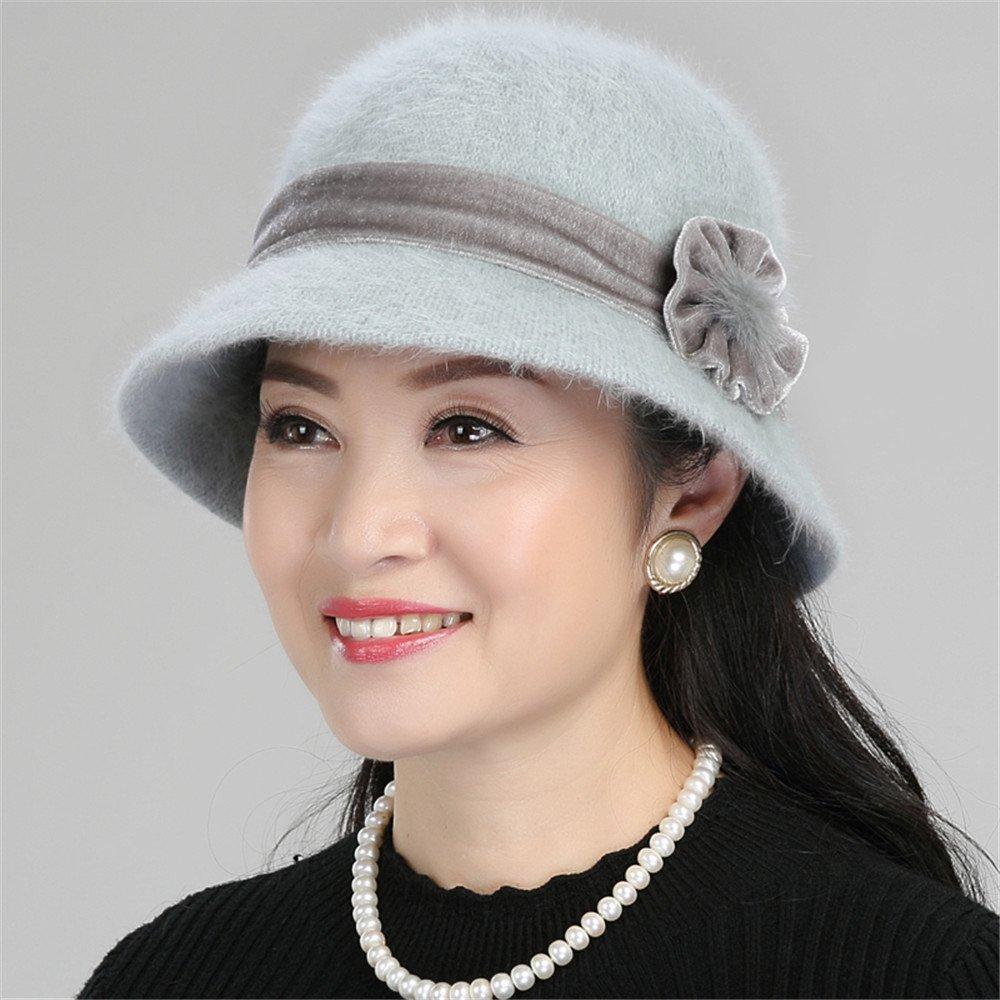Mujer en el viejo pescador hat hembra tapa Sombrero de invierno Sombrero de invierno cálido madre an...