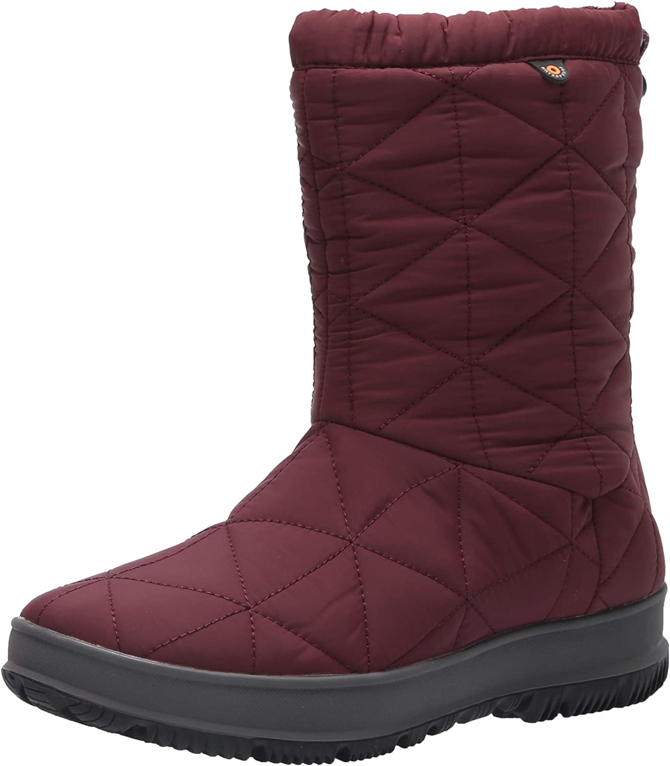 BOGS Womens Snowday Mid Snow Boot, Wine, Size