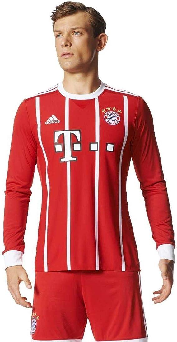 adidas FC Bayern München Home Replica Jersey Longsleeve 2017/18 Maglietta Uomo