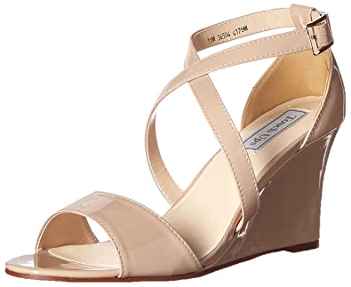 Touch Ups Women's Jenna Wedge Sandal, Nude, ...