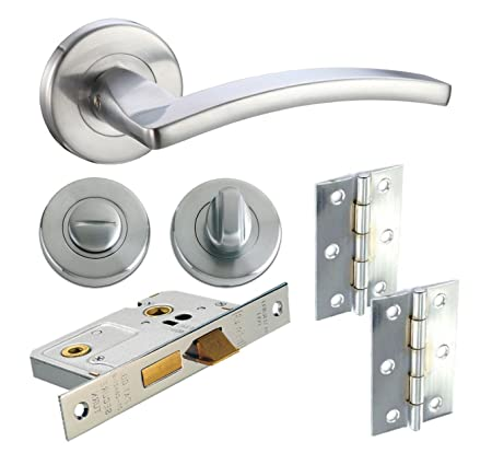 Toledo Lever Internal Door Handle Furniture Packs on Rose Satin ...
