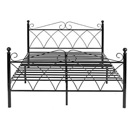 Prime Yysd 4Ft6 Double Metal Bed Frame With Strong Metal Slats Onthecornerstone Fun Painted Chair Ideas Images Onthecornerstoneorg