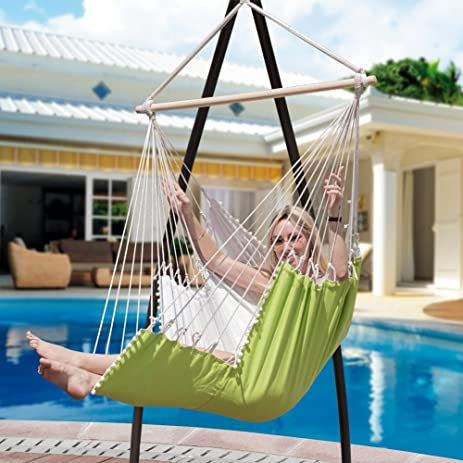 Lazy Daze Hammocks Hanging Hammock Swing Chair Outdoor Patio Porch Swing  Seat With 2 Cushions And