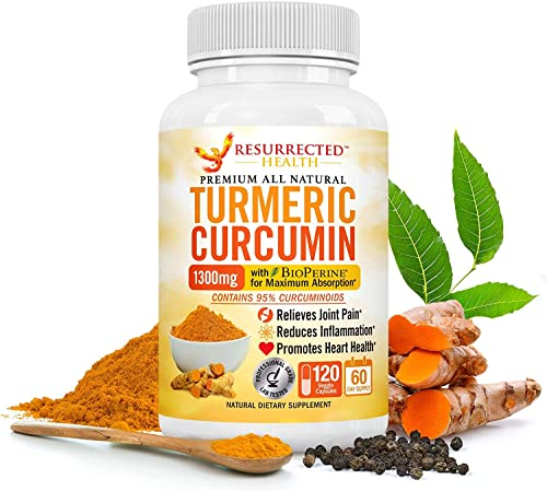 Turmeric Curcumin with Black Pepper – Value Size 2 Month Supply – Natural Joint Support and Inflammation Reducer – Vegetarian-Friendly w 95 Standardized Curcuminoids Bio-Perine for Max Absorption