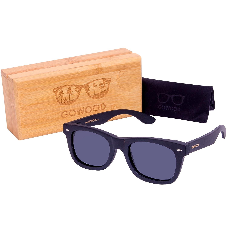 1e6c71fc2e Wood Sunglasses Black Bamboo For Men & Women with Polarized Lenses that  floats: Amazon.ca: Shoes & Handbags