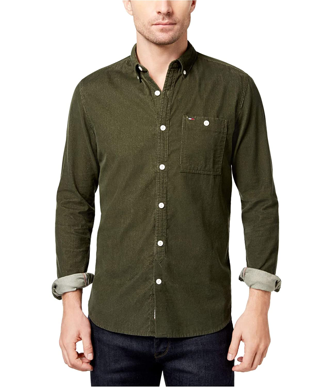 Tommy Hilfiger Mens Raleigh Corduroy Button Up Shirt